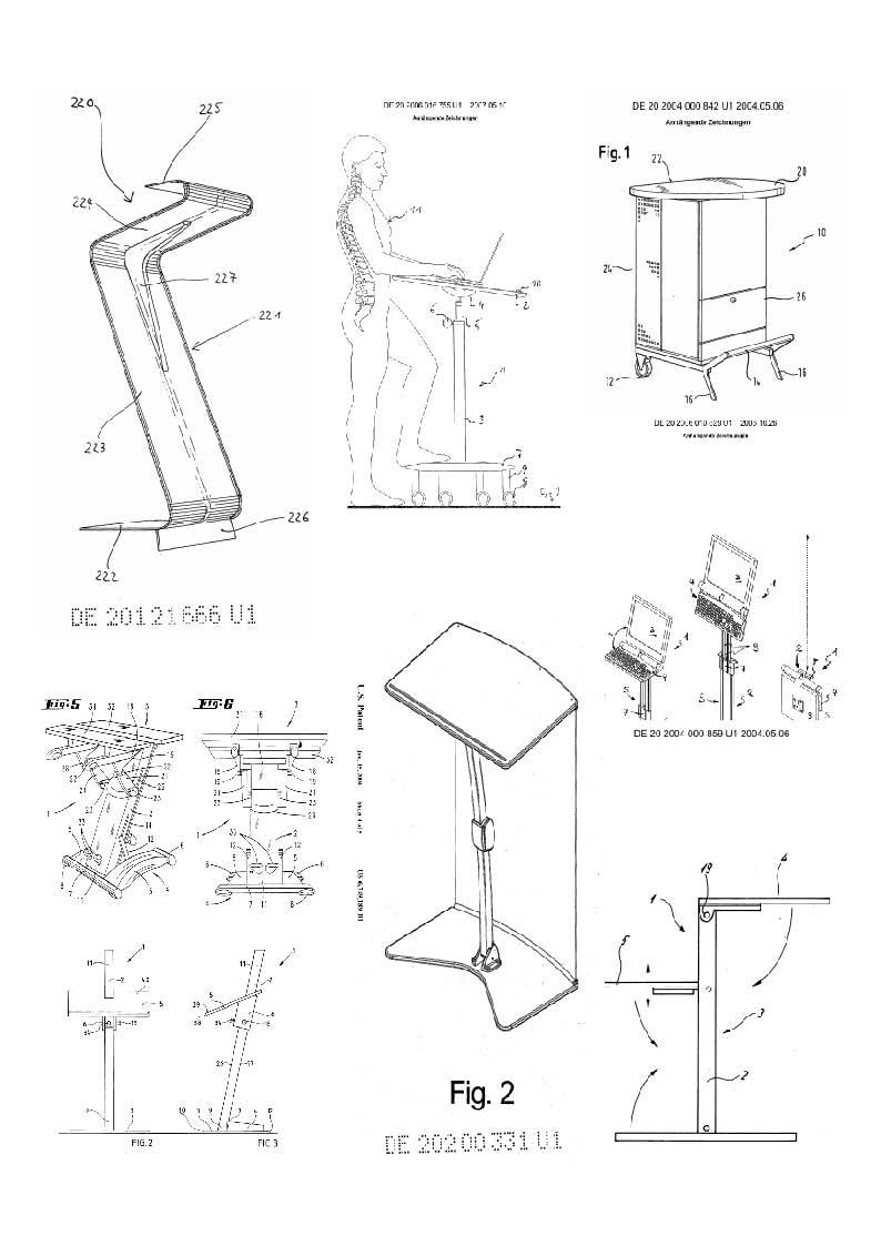 stehpult schreibtisch zum stehen 200 patente 2000 se ebay. Black Bedroom Furniture Sets. Home Design Ideas